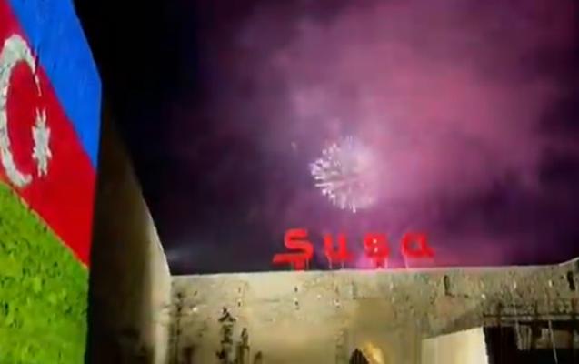 Şuşada atəşfəşanlıq - Video